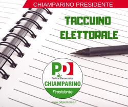 Il taccuino elettorale del Pd del Piemonte per le elezioni regionali ed europee 2019