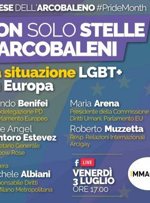 """#PrideMonth. Live Fb """"Non solo stelle e arcobaleni. LA situazione LGBT+ in Europa (ve 3 luglio 2020 h 17,00)"""