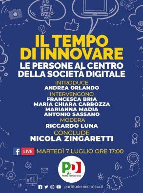 IL TEMPO DI INNOVARE. Le persone al centro della società digitale – LIVE FB (7 luglio 2020 h 17,00)
