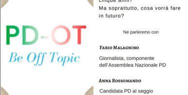 """01/03 Torino. """"E allora il PD?"""" Incontro pre-elettorale con Fabio Malagnino e la candidata Anna Rossomando"""