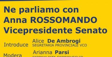 Ve 14/08 – Incontro con Anna Rossomando, Vice Presidente del Senato
