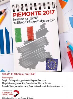 """Incontro """"PIEMONTE 2017 – Le risorse per i territori tra Bilancio italiano e Budget Europeo"""""""