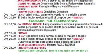 FESTA DEMOCRATICA DI TRECATE (13-14 SETTEMBRE 2019)
