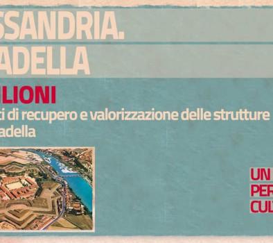 #unmiliardo per la cultura – Alessandria (Cittadella) e Torino (Cavallerizza e Musei Reali)