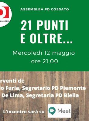 12/05 – Assemblea PD Cossato (BI) con Furia e De Lima