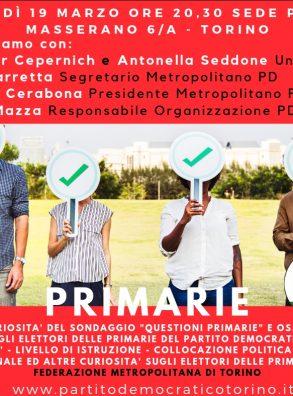 PD Torino. PRIMARIE, analisi del voto