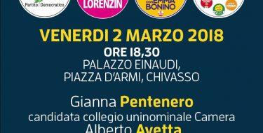 02/03 Chivasso. Chiusura campagna elettorale di Gianna Pentenero