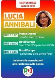 24/02 Novara. Lucia Annibali incontra i cittadini e le associazioni anti-violenza sulle donne