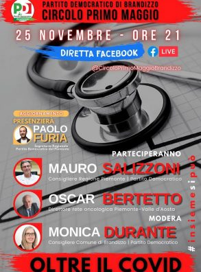 Pd Brandizzo. Oltre il Covid. Diretta fb con Mauro Salizzoni e Oscar Bertetto (25/11 ore 21)