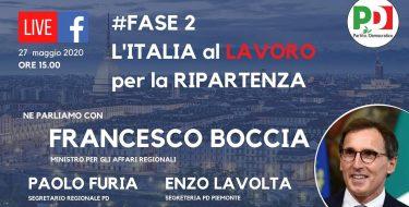 #Fase2 L'ITALIA AL LAVORO PER LA RIPARTENZA. LIVE CON IL MINISTRO BOCCIA (mercoledì 27 maggio 2020 h 15,00)