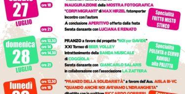 FESTA DE L'UNITA' DELLA FAGNANA DI PRAY (27-29 LUGLIO) 2019