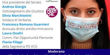 PD VCO. CONTRO LA VIOLENZA SULLE DONNE A PARTIRE DAI LUOGHI DI LAVORO (3/12 ore 18,30 diretta fb)