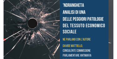 """19/12 PRESENTAZIONE DEL LIBRO """"UN CANCRO CHIAMATO 'NDRANGHETA"""" DI RICCARDO GORRIERI"""
