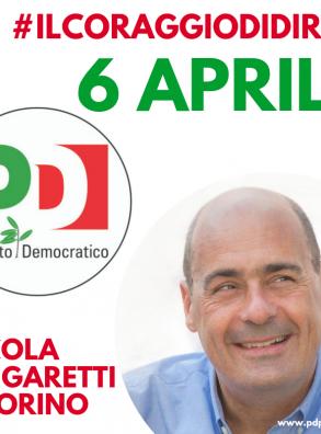 Zingaretti a Torino il 6 aprile
