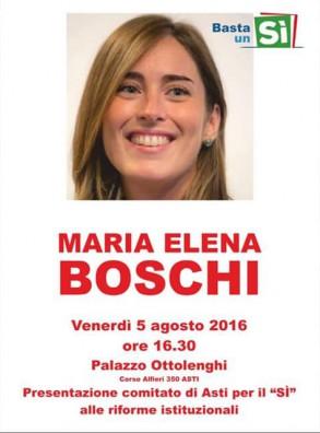 Maria Elena Boschi ad Asti (5 agosto)