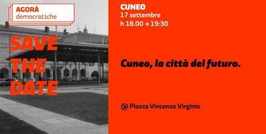 Cuneo, la città del futuro: il 17 settembre Agorà Democratica su giovani e sostenibilità
