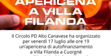 PD Alto Canavese. Apericena di autofinanziamento (17 luglio 2020 ore 19,00)