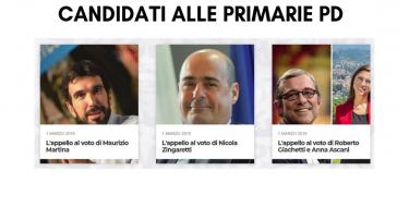 Appelli al voto dei tre candidati
