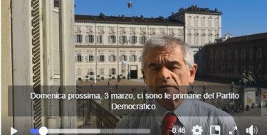 #primariepd – Appello al voto di  Sergio Chiamparino