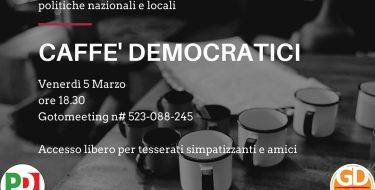 """05/03 ore 18,30 – GD Asti – CAFFE' DEMOCRATICI""""Il governo Draghi, il nuovo dpcm e le azioni sull'emergenza sanitaria"""""""