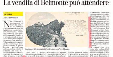 Belmonte, Avetta: garantiamo un futuro al Sacro Monte
