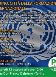 13/10 – Torino, città della formazione internazionale