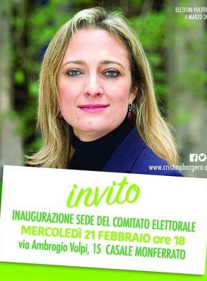 21/02 Casale Monferrato. Inaugurazione comitato elettorale di Cristina Bargero
