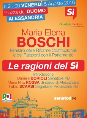 Le ragioni del SI'. Maria Elena Boschi ad Alessandria (5 agosto)
