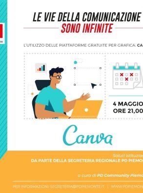 4/5 ore 21 – Le vie della comunicazione sono infinite – Canva, l'utilizzo delle piattaforme gratuite per grafica.
