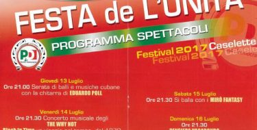 Festa De L'Unità Di Caselette (13 -16 Luglio 2017)