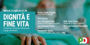 20/7-  Dignità e fine vita – Formazione e discussione sulla proposta di legge su eutanasia