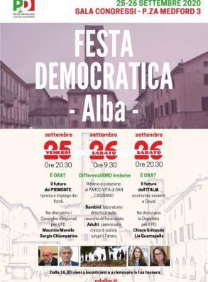 PD ALBA. FESTA DE L'UNITÀ 2020 (25-26 settembre)