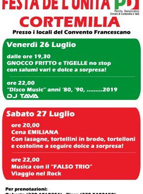 FESTA DE L'UNITÀ DI CORTEMILIA (26 – 27 LUGLIO)