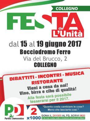 Festa de l'Unità – Collegno (15-19 giugno 2017)