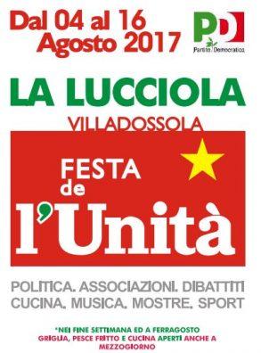 Festa de l'Unità La Lucciola a Villadossola (4 -16 agosto 2017)