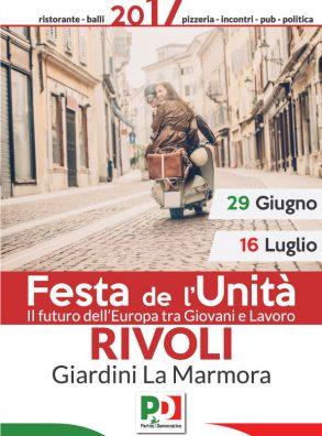 Festa de l'Unità – Rivoli (29 giugno-16 luglio 2017)