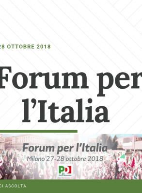 Forum per l'Italia. Milano, 27-28 ottobre 2018