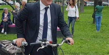 Collegno. Casciano primo sindaco della bici d'Italia
