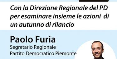 Pd Grugliasco. Incontro con il segretario regionale Paolo Furia (23 luglio 2020 ore 19,30)