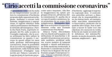 """la Repubblica. Furia: """"Cirio accetti la commissione coronavirus"""""""
