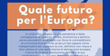 """GD PIEMONTE. Dialogo su """"Quale futuro per l'Europa?"""" LIVE giovedì 11 giugno 2020 h 21,00"""