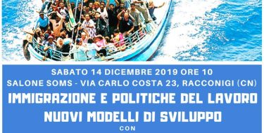 """""""Immigrazione e politiche del lavoro"""", incontro sabato 14/12 a Racconigi con Furia, Gribaudo, Orfini, Calderoni"""