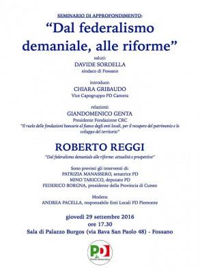 """Seminario di approfondimento """"Dal federalismo demaniale alle riforme"""""""