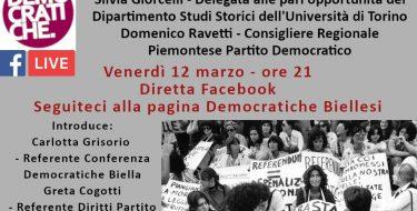 12/03 ore 21,00 – Democratiche Biellesi – Pari Opportunità da conquistare