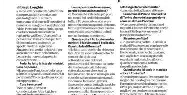 """Intervista a Paola Furia Furia """"Noi, sottovalutati dal Pd anche in passato"""""""