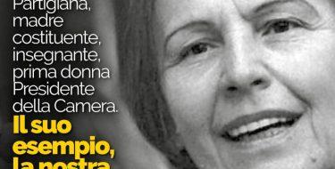 """LIVIA TURCO RICORDA NILDE IOTTI: """"SE FOSSE QUI CI DIREBBE DI CONTINUARE A LOTTARE PER I NOSTRI IDEALI"""""""
