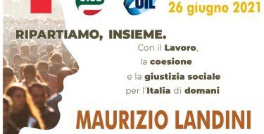 """26/6 ore 9,30 – """"Ripartiamo insieme"""" Manifestazione Cgil, Cisl e Uil in piazza Castello a Torino"""