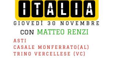 """Renzi in Piemonte: """"Centomila posti nel servizio civile, condannare le violenze dei naziskin"""""""