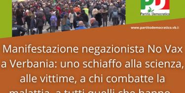Manifestazione negazionista No Vax a Verbania: uno schiaffo alla scienza