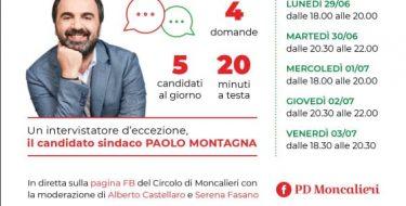 """""""RED CARPET WEEK"""" PER IL PD MONCALIERESE: I CANDIDATI SI PRESENTANO (29 giugno / 3 luglio 2020)"""